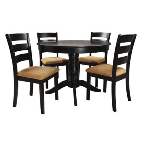 homesullivan 42 in black dining set with ladder