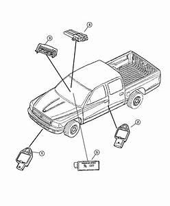2005 Dodge Grand Caravan Sensor  Air Bag  Impact  Side