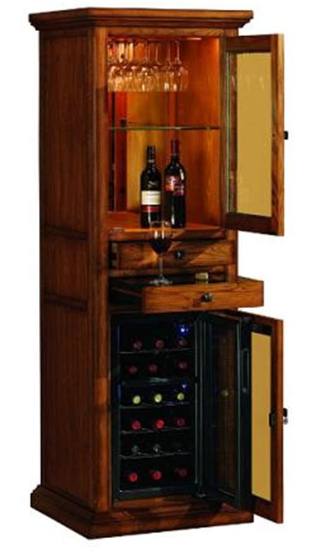 wine fridge cabinet wooden meridian wine curio with in built thermoelectric