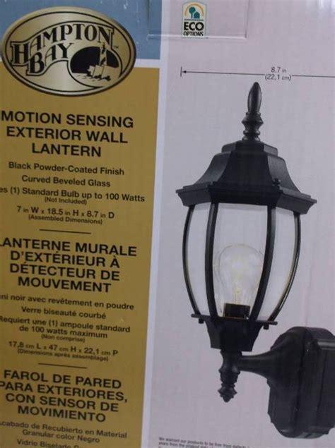 hton bay motion sensing exterior wall lantern black