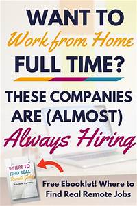 Want to Work from Home Full Time? These Companies Are ...