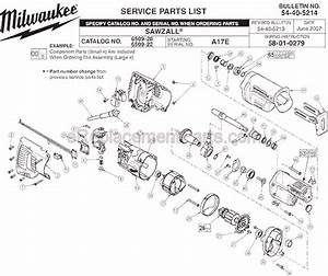 Milwaukee 6509-22 Parts List And Diagram