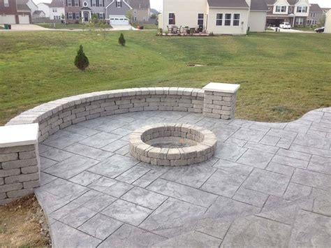 concrete pits in decorative concrete
