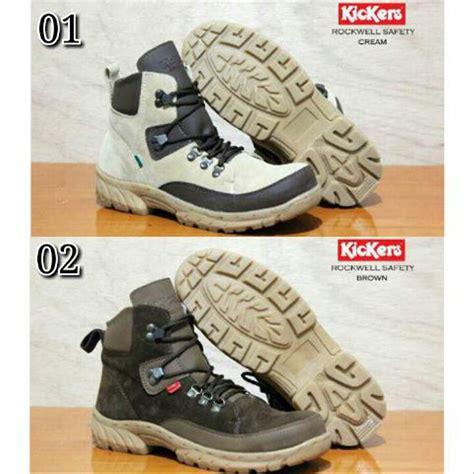 jual sepatu boots pria kickers rockwell safety proyek lapangan kerja terbaru di lapak dean store