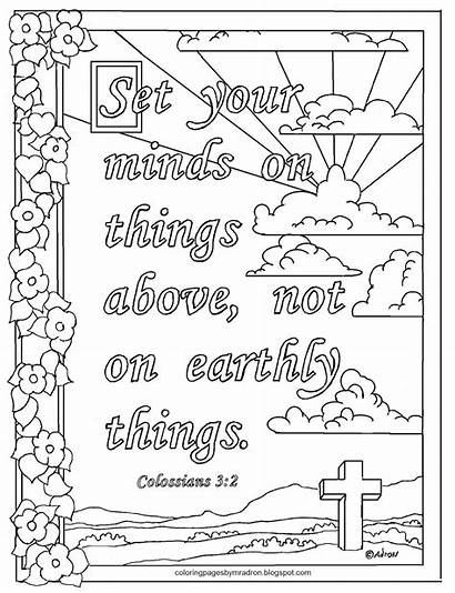 Colossians Coloring Above Mind Adron Mr