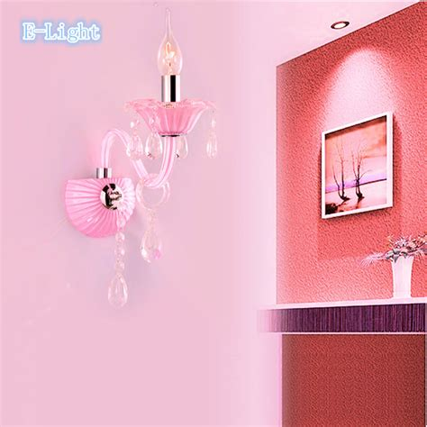 aliexpress buy pink baby child luxury wall sconce