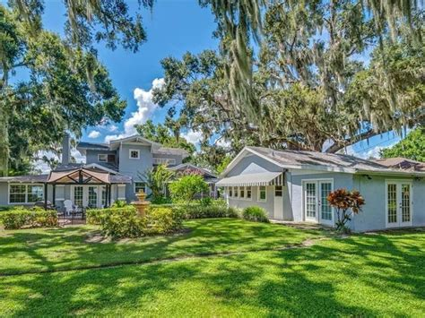 historic waterfront winter haven home  sale lakeland