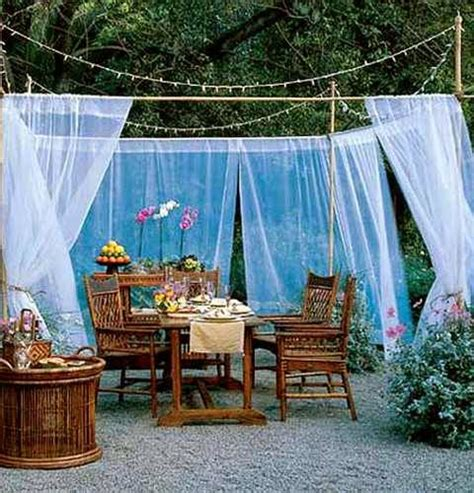 canopy ideas for outside 20 diy outdoor curtains sunshades and canopy designs for summer do it yourself ideas and projects