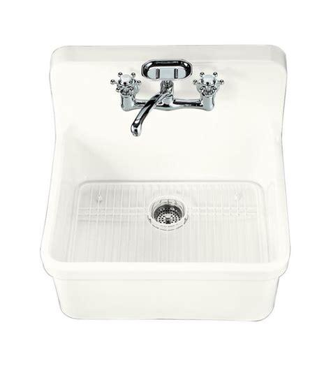 kohler gilford sink 24 faucet k 12701 0 in white by kohler