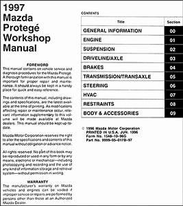 1997 Mazda Protege Repair Shop Manual Original