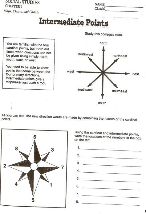 search results for cardinal direction worksheet