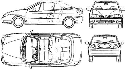 1998 renault megane cabriolet blueprints free outlines