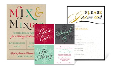corporate invitations corporate  holiday parties