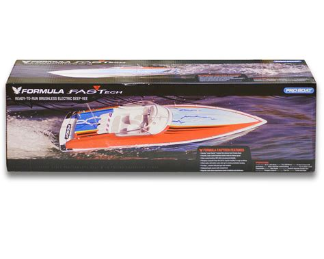 Formula Boats Replacement Parts by Pro Boat Formula Fastech Brushless V Rtr Prb3750