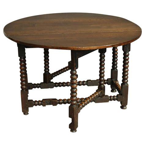 gate leg table large 17th century oak gateleg table with bobbin turned