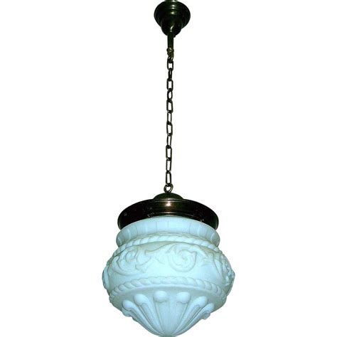 large neoclassical globe pendant light fixture from