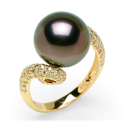 black pearl wedding band images