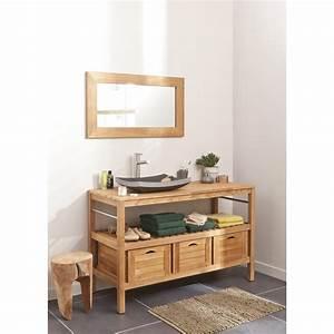 Salle De Bain Le Roy Merlin : meuble de salle de bains plus de 120 brun marron ~ Premium-room.com Idées de Décoration