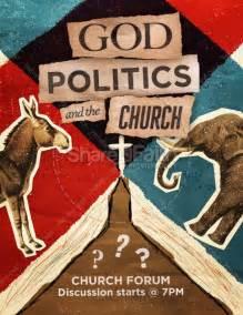 god politics   church flyer template