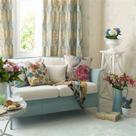 sofa verde floral decoraci 243 n interior de sala floral ideas para decorar