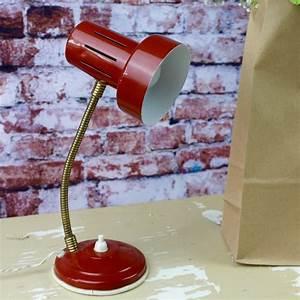 Lampe Bureau Vintage : lampe de bureau vintage articul e ann es 60 orange brique en metal ~ Teatrodelosmanantiales.com Idées de Décoration