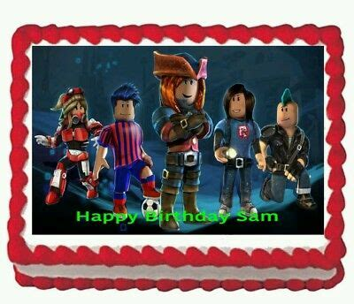 roblox edible cake birthday party toppers decorations