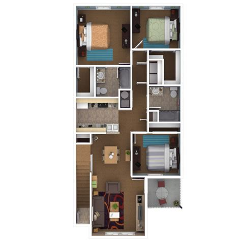 3 Bedroom Apartment Floor Plans by Apartments In Indianapolis Floor Plans