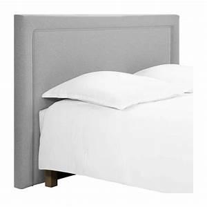 Tete De Lit Tissu : montana t te de lit pour sommier en 140 cm en tissu gris ~ Premium-room.com Idées de Décoration