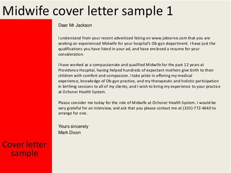 Cover Letter For Ob Gyn Position by Midwife Cover Letter