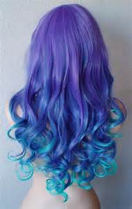 Blue and Purple Ombre Hair Tips