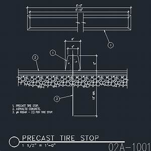 Tire Stop Precast CAD Files DWG Files Plans And Details