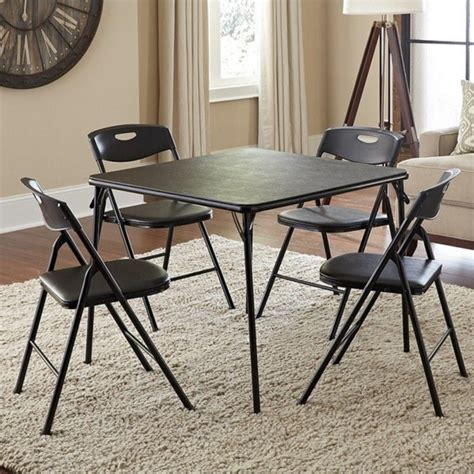cosco folding table and chairs ameriwood cosco collection 5 piece folding table and chair