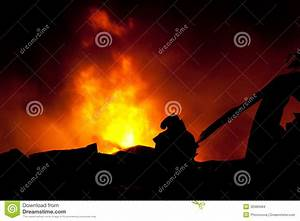 Silhouette Of Firemen Stock Images - Image: 30986084