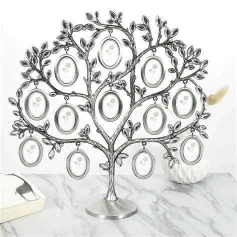 Family Photos Frame Tree 12 Pictures Metal Holder Art