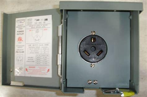 New Rv Power Outlet 30 Amp Outdoor Type Rainproof 120 Volt