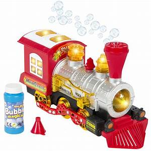 Kids Toy Blowing Bubble Train Car Music  Lights And Bump U0026 39 N U0026 39 Go Battery Operated