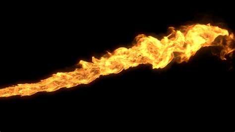 Animated Realistic Stream Of Fire Like Flamethrower
