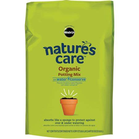 miracle gro natures care organic potting soil  water