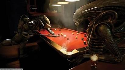 Billiards Bar Predator Alien Pool Anime Table