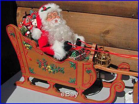vintage animated santa   sleigh pulled