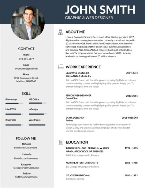 Image Result For Best Resume Templates  Ui Pinterest