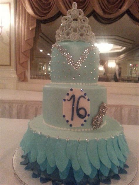aqua blue sweet  cake  cakes pinterest