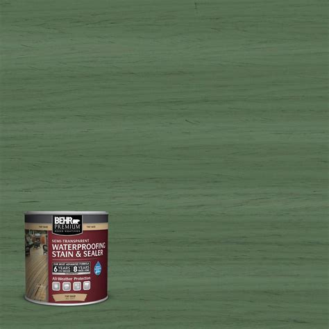 behr premium  oz st woodland green semi transparent