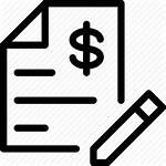 Estimate Estimates Icon Contract Cost Sign Moving