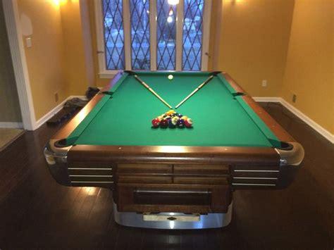 fully restored brunswick anniversary pool table