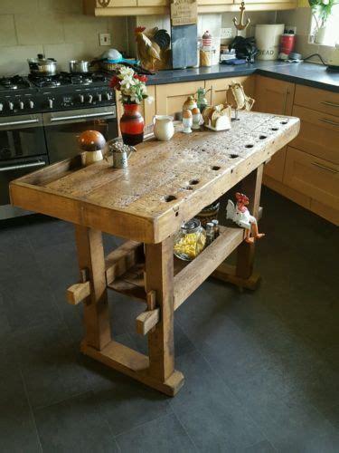 kitchen island vintage rustic workbench table kitchen island butchers block prep 2038