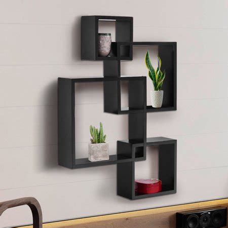 Kmart has wall decor shelves in a stylish array of shapes, sizes and designs to add panache to any room. Intersecting 4 Square Floating Shelf Wall Mounted Cube ...