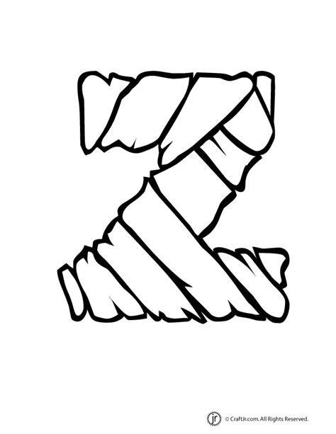 bubble letters a z mummy letter z woo jr activities 20715 | mummy bubble letters z