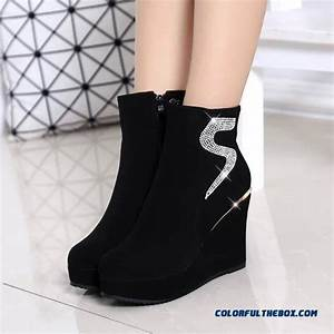 Boot Size Chart Cheap Popular In European And American Wedge Heel Thick