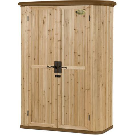 suncast vertical storage shed suncast hybrid 50 cu ft shed cedar wood walmart